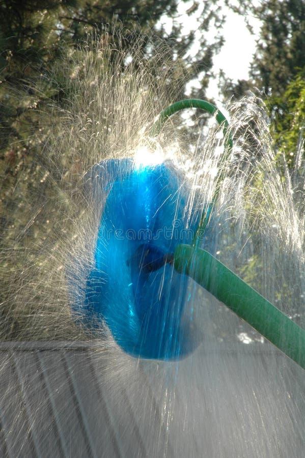Закручивая игрушка воды на парке Spokane стоковое фото rf