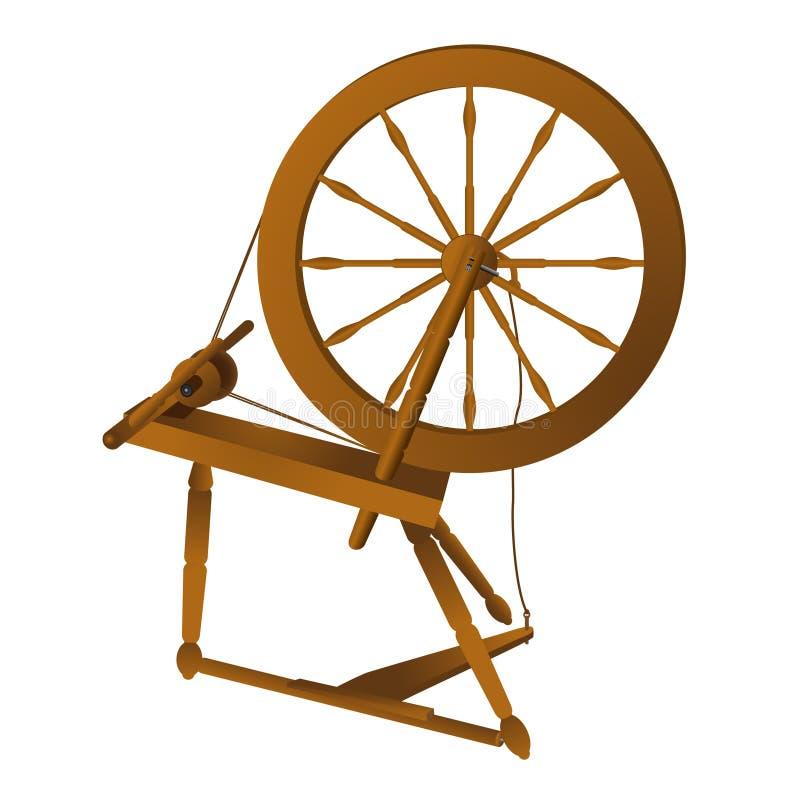 закручивая колесо иллюстрация штока