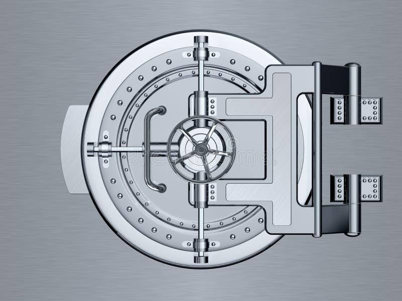 Закрытая дверь банковского хранилища иллюстрация вектора