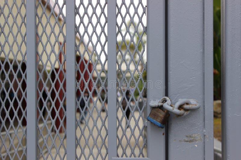 Закрытая концепция кампуса средней школы стоковое фото