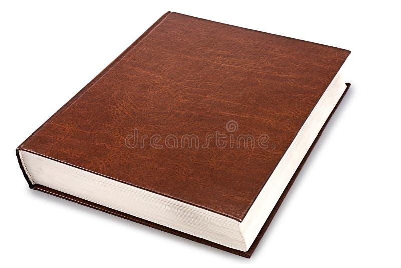 Закрытая коричневая книга стоковое изображение