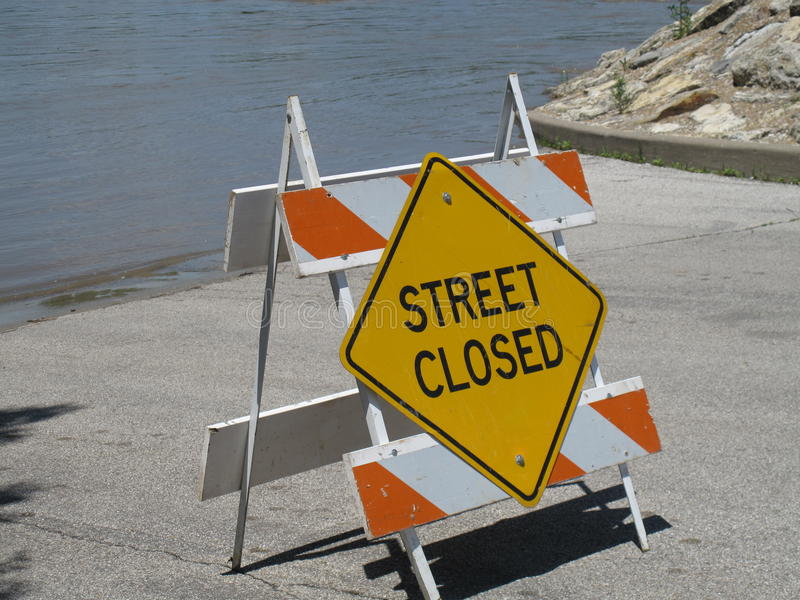 закрытая улица стоковая фотография