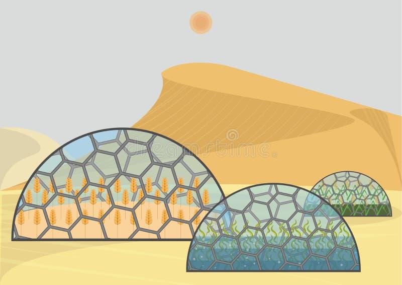 Закрытая экологическая система иллюстрация штока