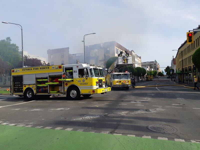 Закрытие дороги после огня стоковое изображение