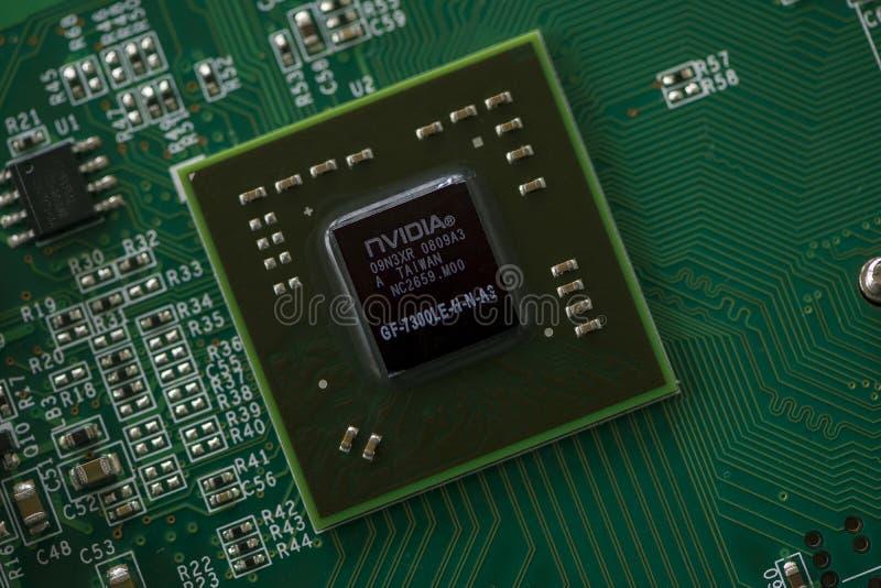Закрытие микропроцессора стоковые фото