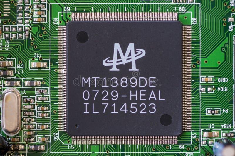 Закрытие микропроцессора стоковое фото rf