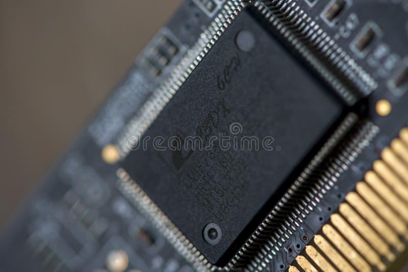 Закрытие микропроцессора стоковое фото