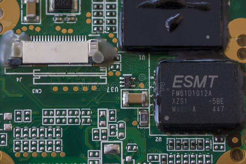 Закрытие микропроцессора стоковое изображение
