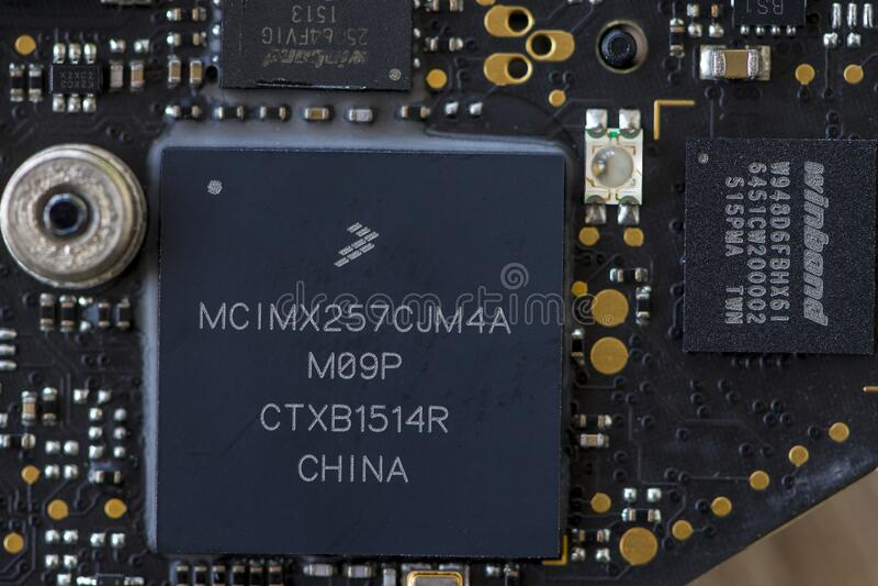 Закрытие микропроцессора стоковая фотография