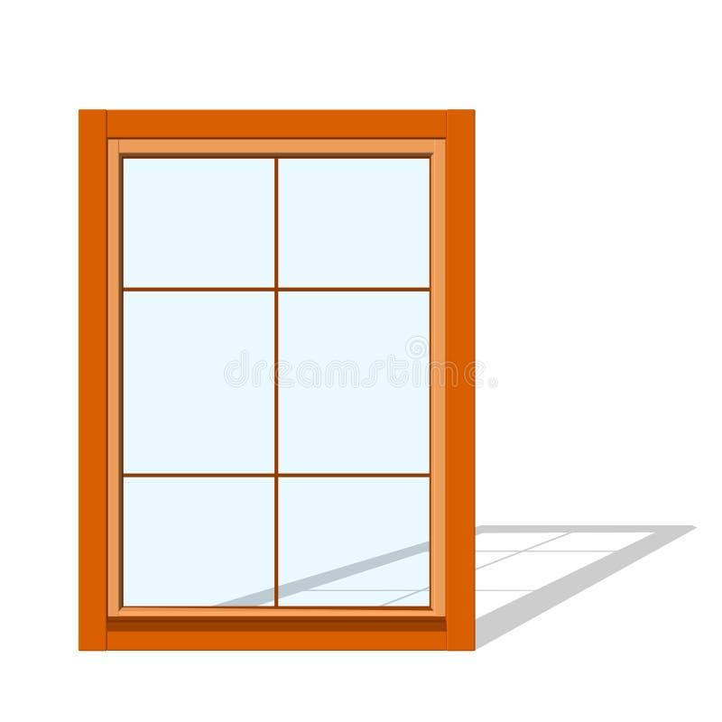 закрытое окно белизна изолированная предпосылкой иллюстрация вектора