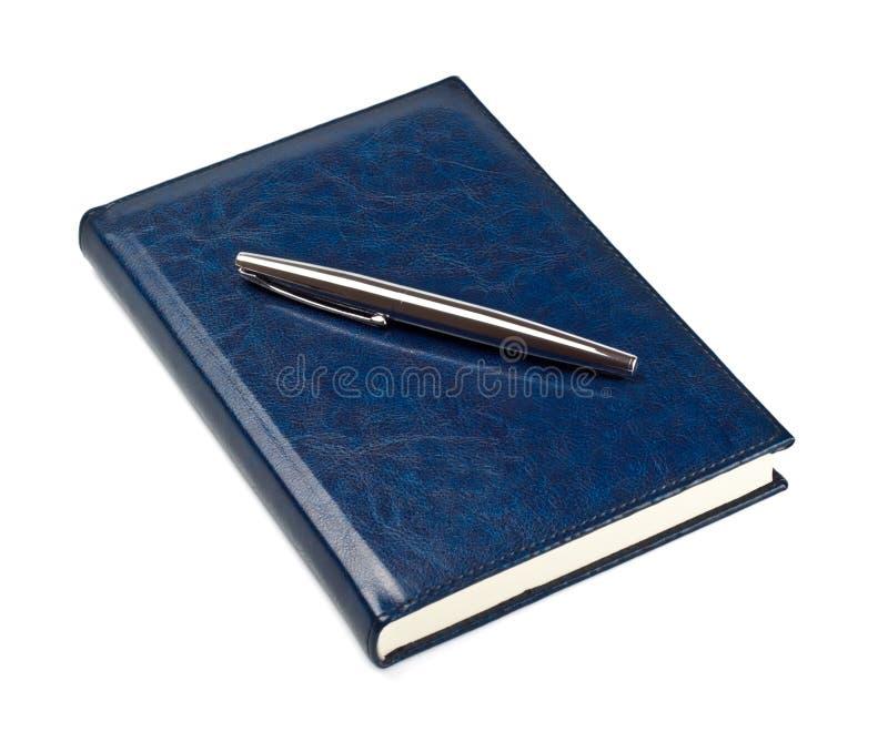 закрытое пер дневника стоковое фото rf