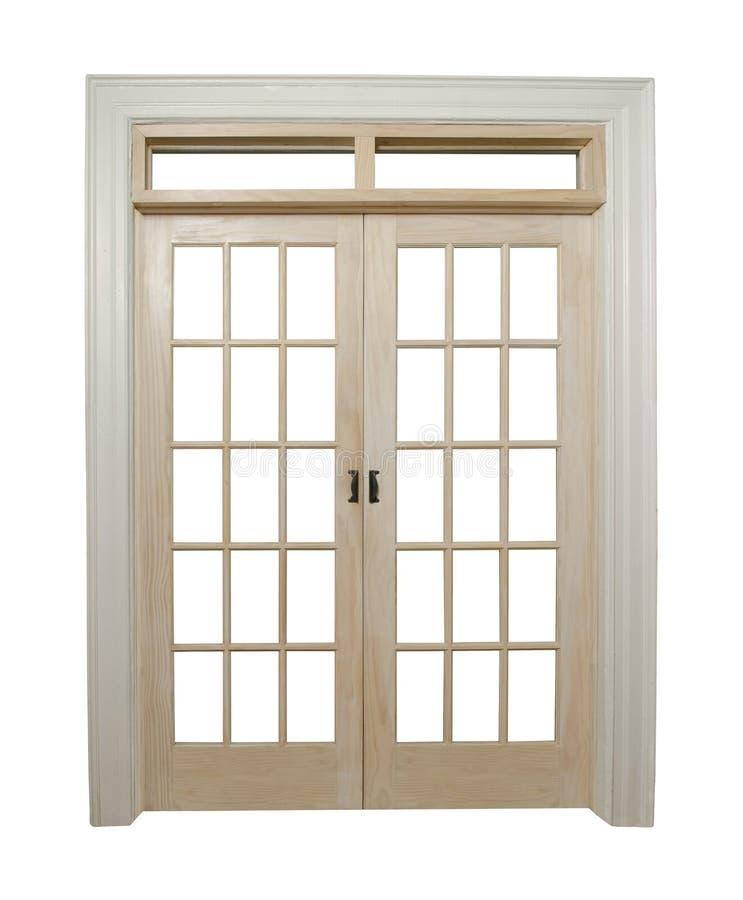 закрытые двери французские стоковая фотография