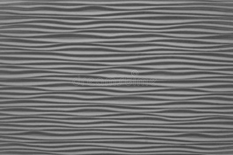 Закрытый вверх горизонтальной текстуры серых абстрактных волн стоковая фотография rf