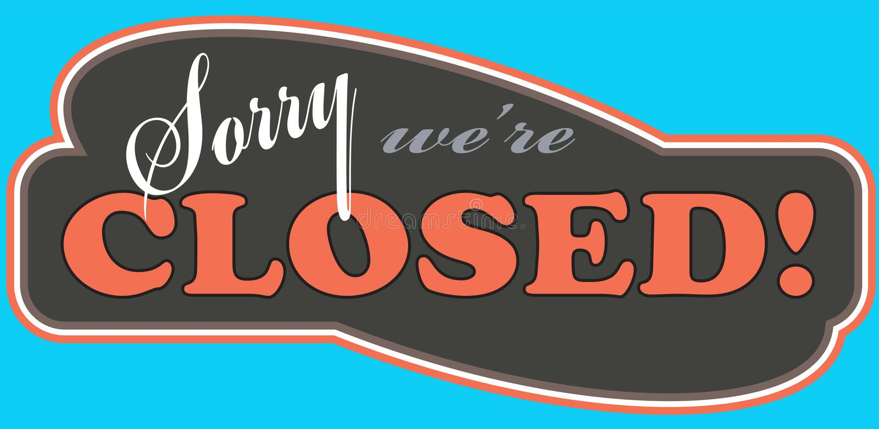 закрытый магазин знака стоковые изображения rf