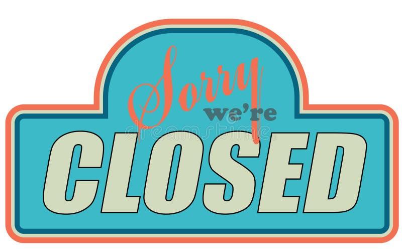 закрытый магазин знаков стоковая фотография