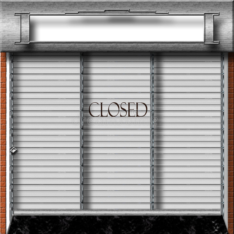 закрытый магазин иллюстрация штока