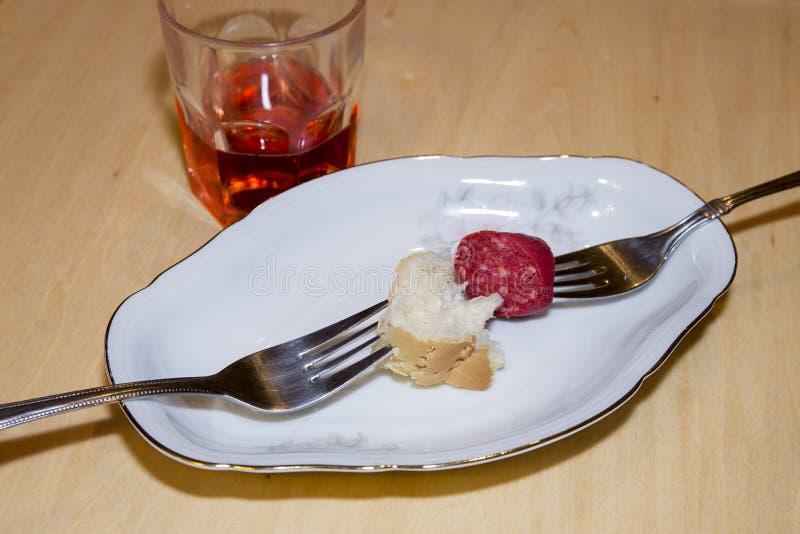Закуска и вино стоковое изображение rf