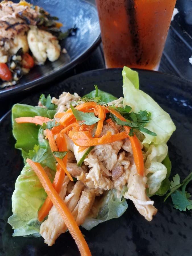 Закуска обруча салата цыпленка стоковая фотография