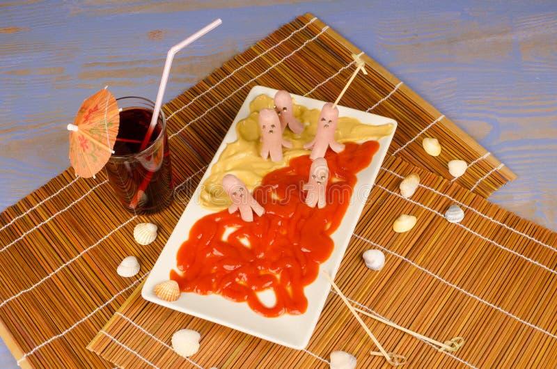 Закуска осьминога стоковые фотографии rf