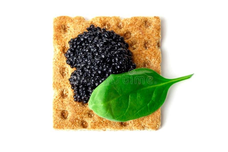 Закуска с черной икрой стоковые фотографии rf