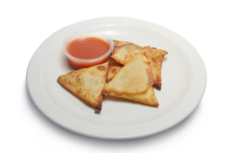 Закуска Samosa с chili стоковые изображения