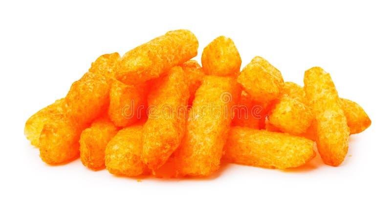 Закуски мозоли сыра желтые в белизне стоковая фотография rf