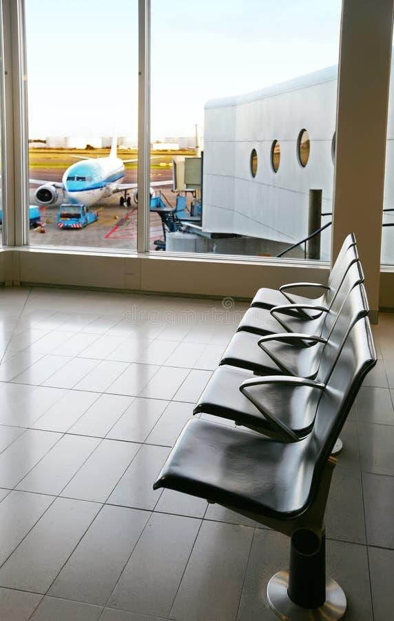 зала авиапорта пустая стоковое фото