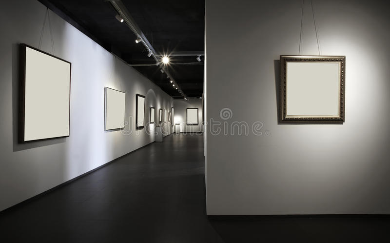 зала выставки стоковые изображения
