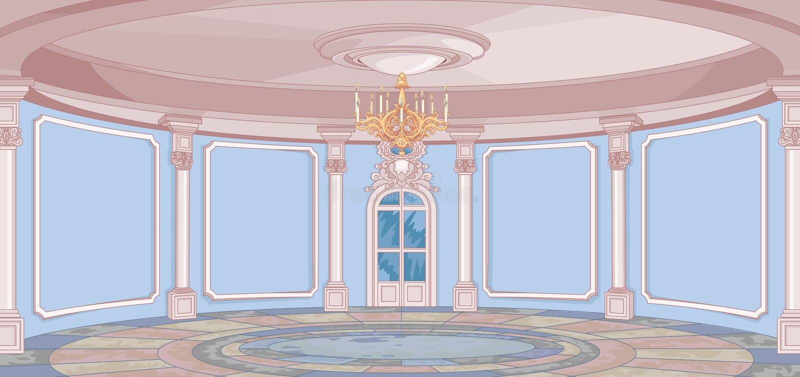 Зала дворца бесплатная иллюстрация