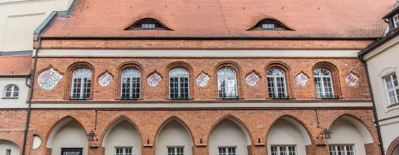 Зала исторического города Gardelegen стоковые изображения rf