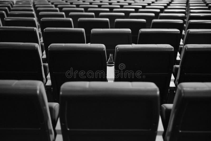 Зала кино без людей Места в кино стоковая фотография rf