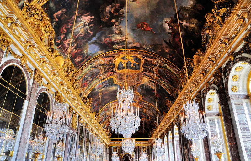 зала отражает versailles стоковые фото