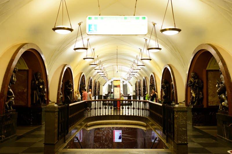 Зала станции метро в Москве стоковая фотография rf