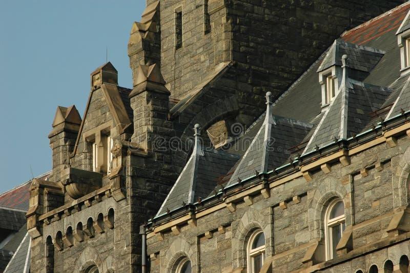 зала georgetown healy unive стоковые фотографии rf