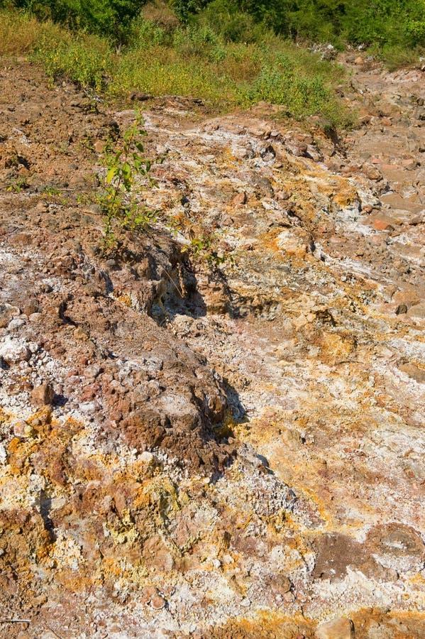 залеми sulphur вулканическое стоковое фото
