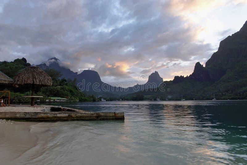 залив варит заход солнца стоковая фотография