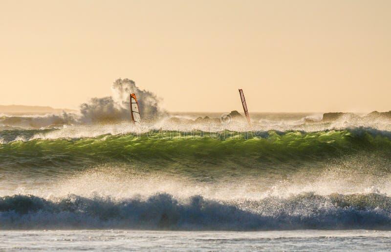 Залив виндсерфинга большой стоковые изображения rf