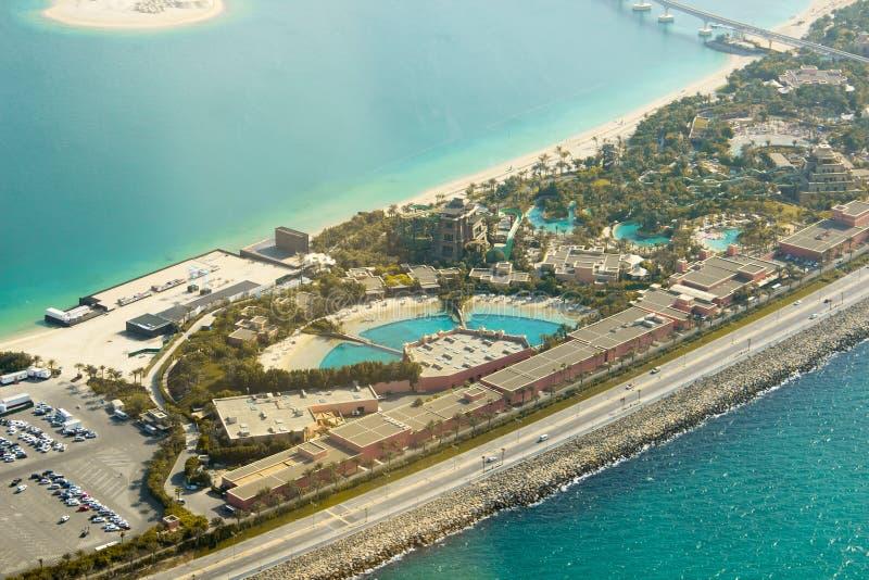 Залив дельфина на ладони Jumeirah стоковая фотография rf