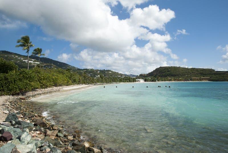 Залив Линдберг острова St. Thomas стоковые изображения rf