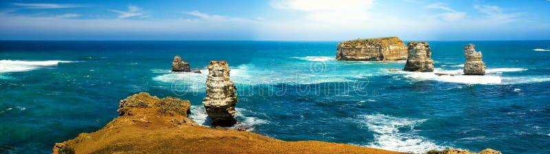 Залив островов прибрежного парка, Виктории, Австралии стоковое фото rf