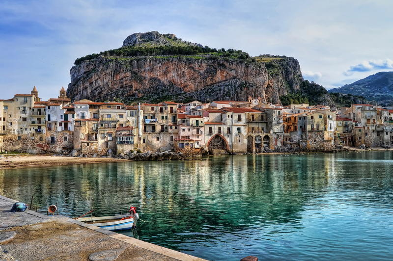 залив Сицилия стоковая фотография rf