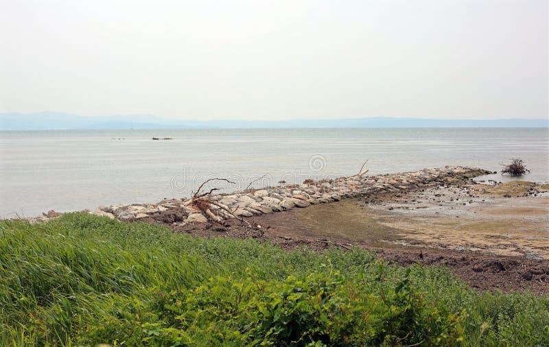 Залив Триеста итальянской лагуны с brackish водой стоковое изображение rf