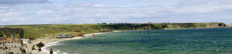 залив cullen Шотландия стоковые фото