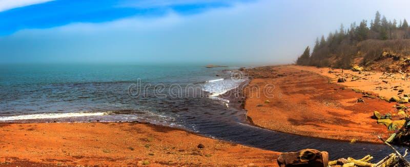 Залив Fundy, Новой Шотландии, Канады стоковое изображение rf