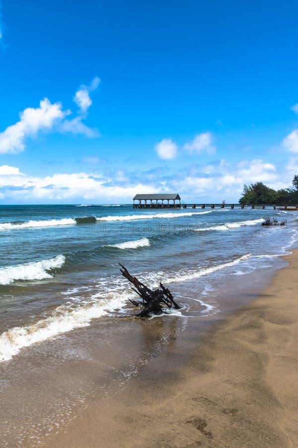 Залив Hanalei в Кауаи, Гаваи стоковая фотография