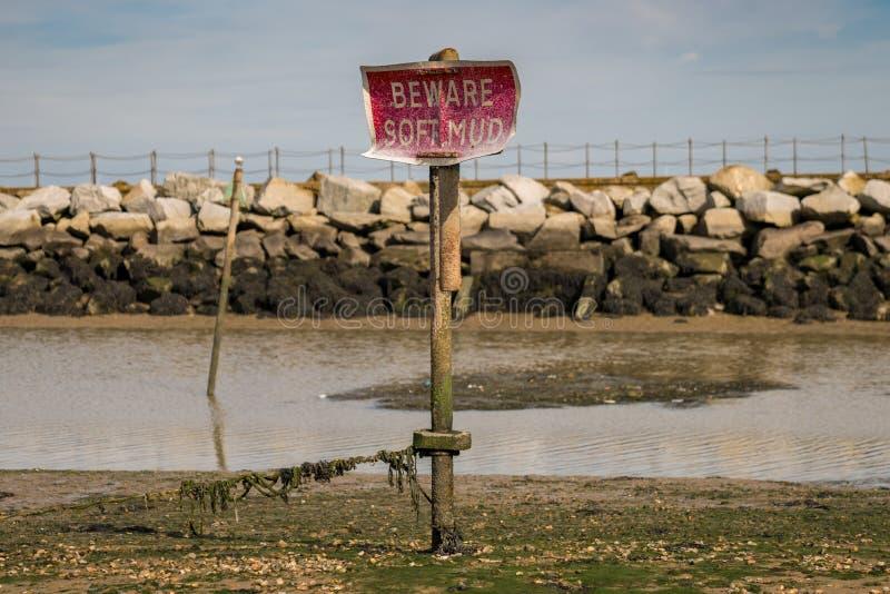 Залив Herne, Кент, Англия, Великобритания стоковое изображение rf