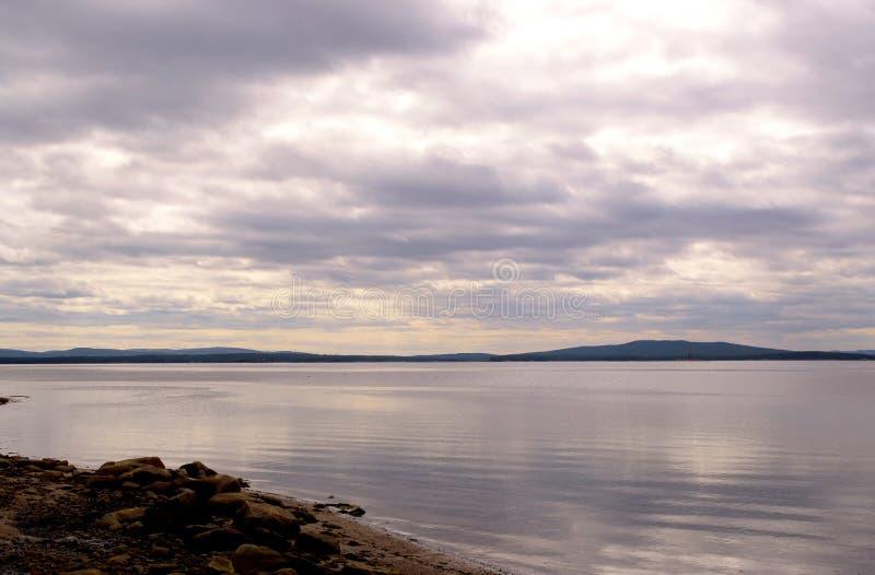 Залив Kandalaksha белого моря стоковое изображение