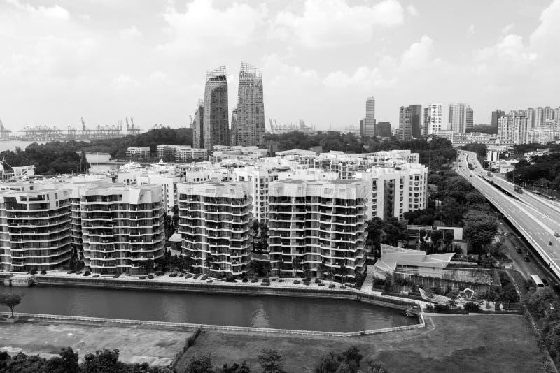 ЗАЛИВ KEPPEL, СИНГАПУР, 10-ое декабря 2017: Марина на заливе Keppel в Сингапуре стоковая фотография