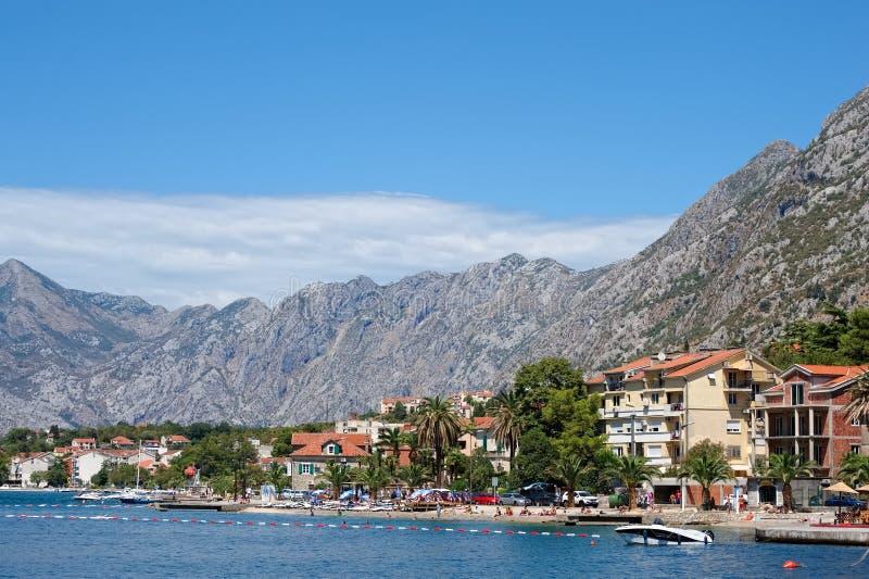 Залив Kotor, Балканы стоковые изображения rf