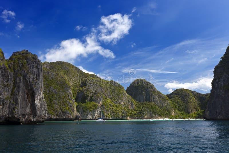 Залив Maya, остров Phi Phi, Таиланд стоковые изображения